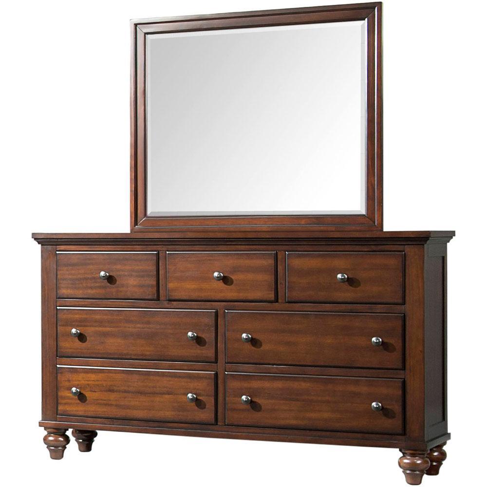 Newport 7-Drawer Cherry Storage Dresser