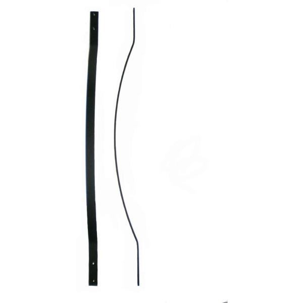 32-1/4 in. x 1 in. Black Fine Textured Aluminum Bow Deck Railing Baluster (5-Pack)