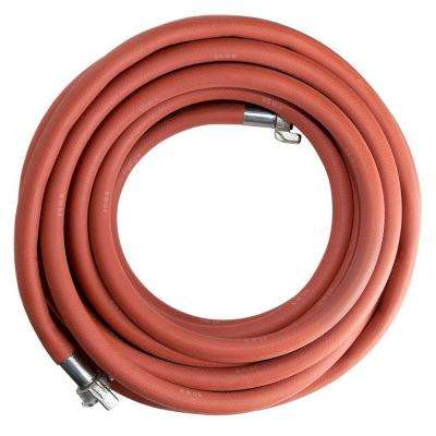 3/4 in. x 50 ft. 300 psi Universal Crimped Fittings Jackhammer Hose in Red