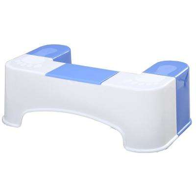7 in. White Bathroom Toilet Stool Aid with Tissue Holder