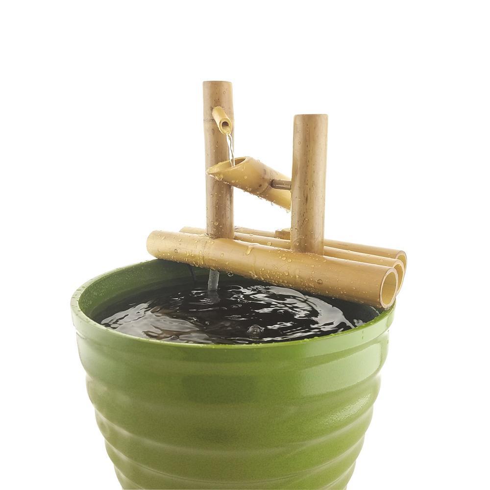 Lifegard Aquatics 12 inch Bamboo Rocking Fountain-Complete with Pump and tubing by Lifegard Aquatics