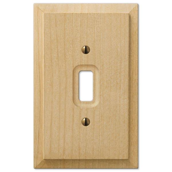 Cabin 1 Gang Toggle Wood Wall Plate - Unfinished