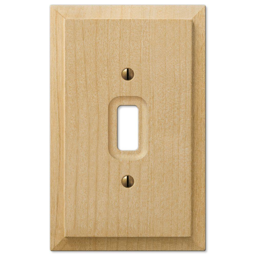 Cabin 1 Toggle Wall Plate - Unfinished Alder Wood