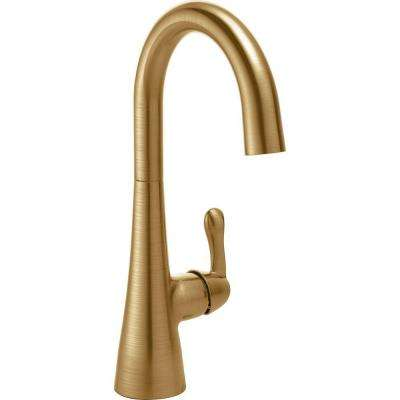 Traditional Single-Handle Bar Faucet in Champagne Bronze