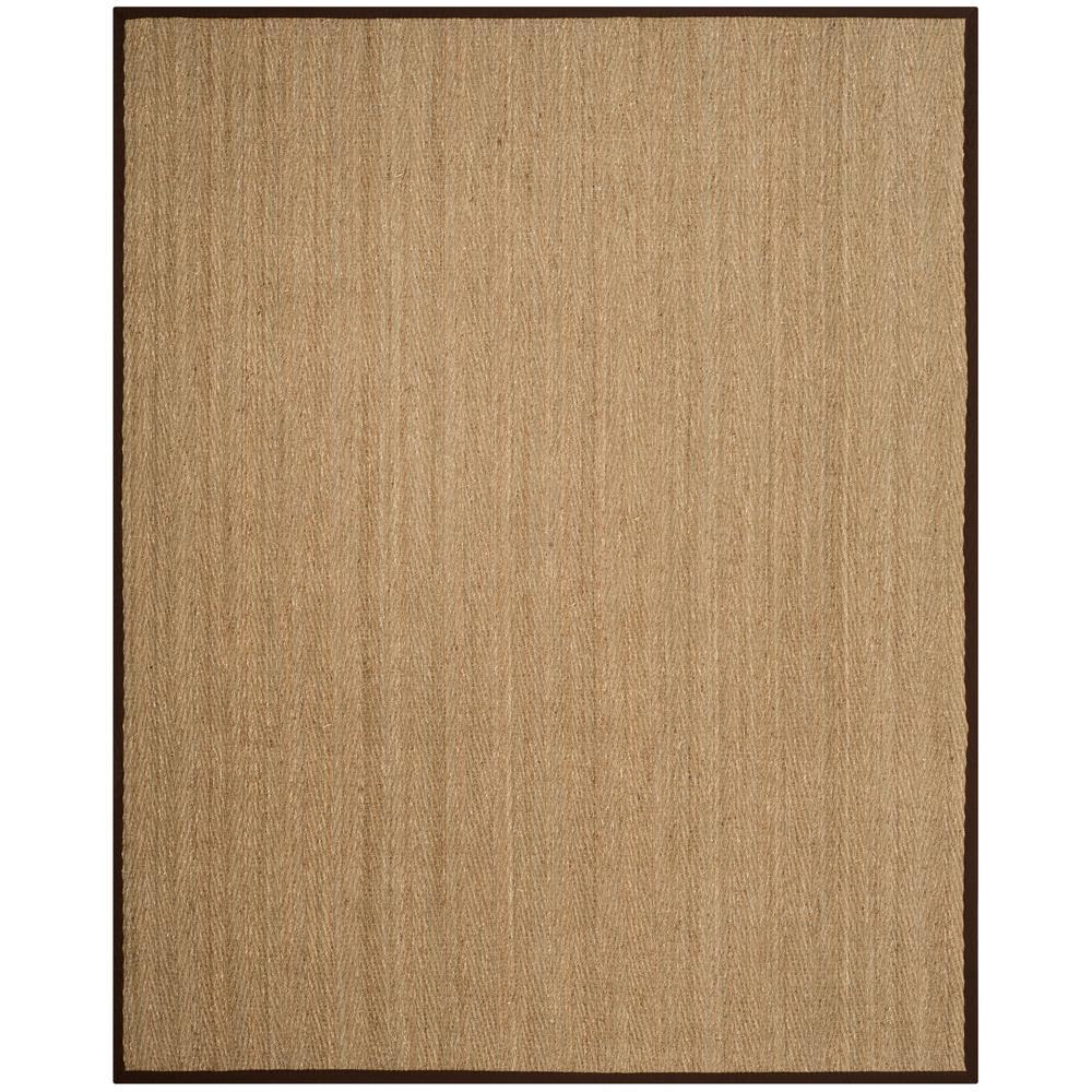 Natural Fiber Beige/Dark Brown 8 ft. x 10 ft. Indoor Area Rug