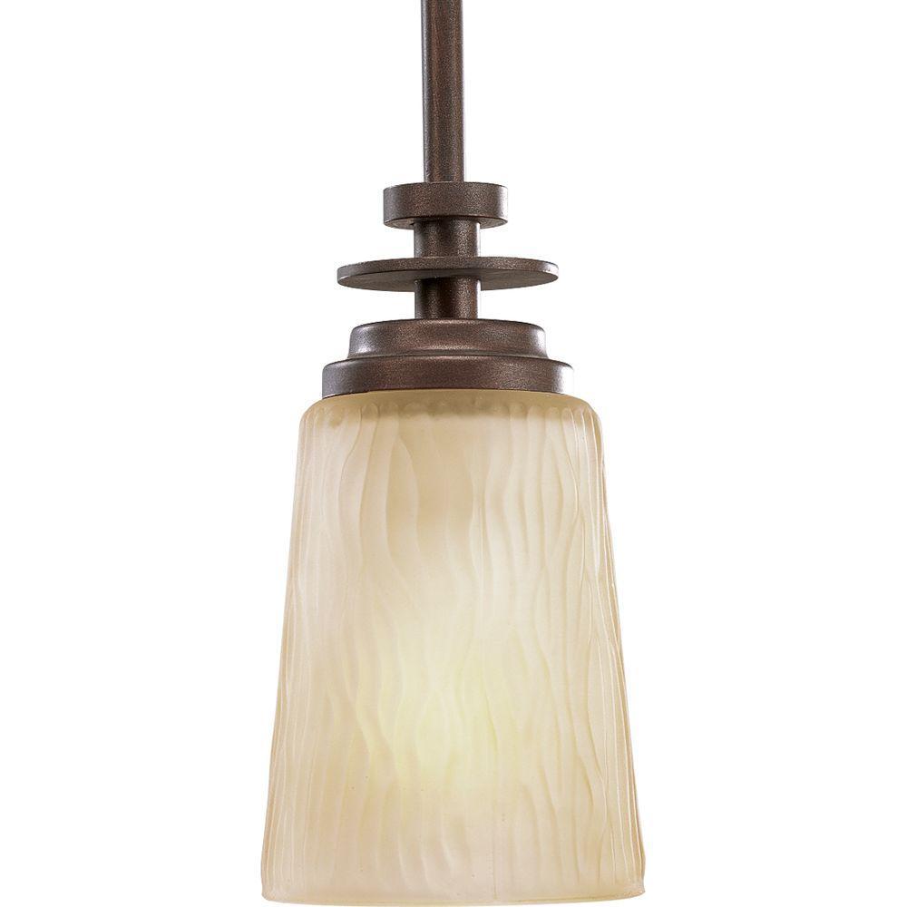 Progress Lighting Riverside Collection 1-Light Heirloom Bronze Mini Pendant