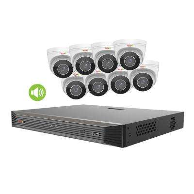 Ultra HD Commercial Grade Audio Capable 16-Channel 4TB NVR Surveillance System with 8 4K Cameras and True WDR