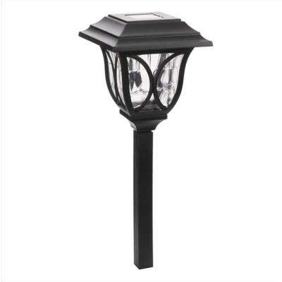 6-Light Black Solar LED Outdoor Post Light 8 Lumens Square Cage