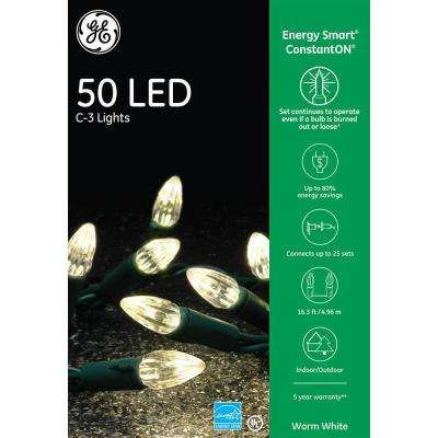 EnergySmart Colorite 50-Light LED Warm White C3