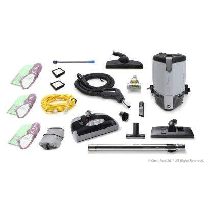 Fully Loaded More Powerful ProVac FS6 6 Qt. Commercial Backpack Vacuum Cleaner with Electric Power Head