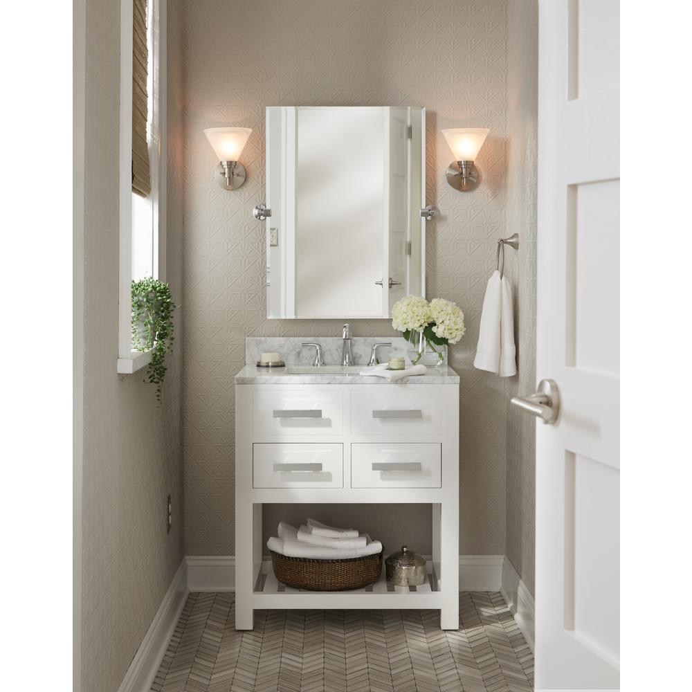 Kwikset Satin Nickel 91550-003 Milan Door Handle Lever with Modern Contemporary Slim Round Design for Home Bedroom or Bathroom Privacy Pack of 2