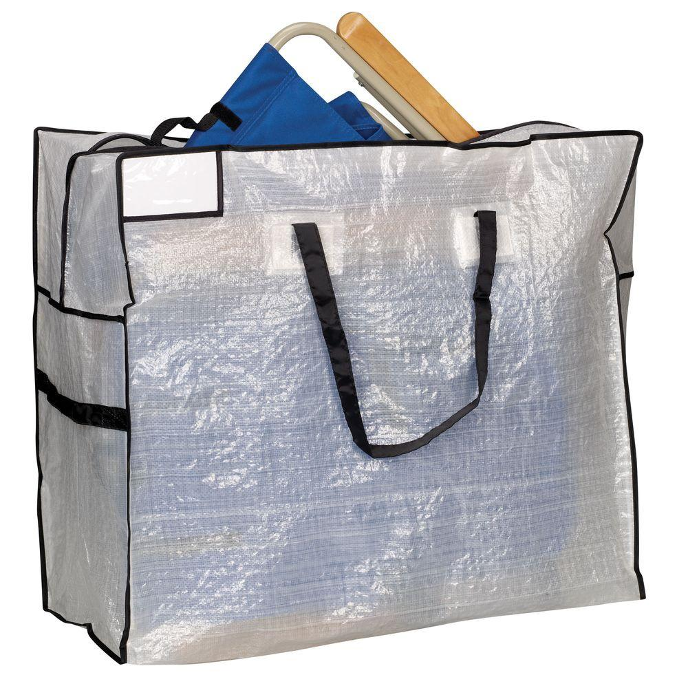 Household Essentials 30 In X 26 White With Black Trim Large Mightystor Storage Tote