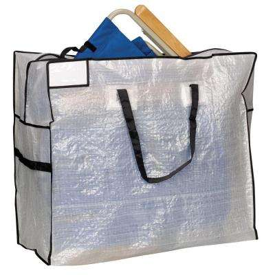 30 in. x 26 in. White with Black Trim Large MightyStor Storage Tote