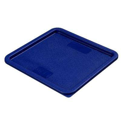 Fits 12, 18 and 22 qt. Polyethylene Containers in Blue Lid to Fit StorPlus Square Food Storage Containers (Case of 6)