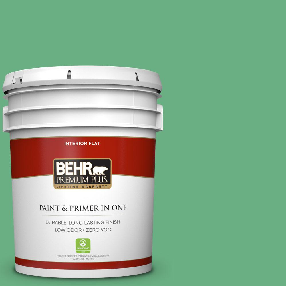 5-gal. #P410-5 Lily Pads Flat Interior Paint