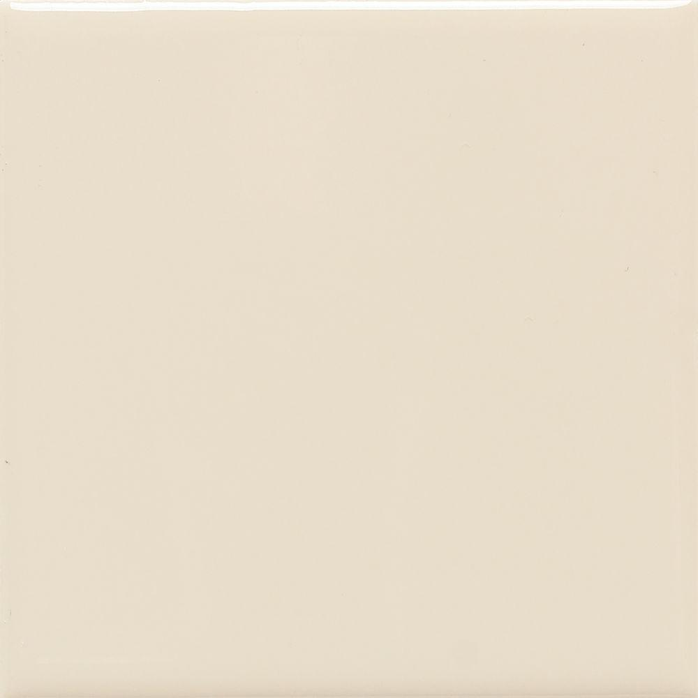 Daltile SemiGloss Almond In X In Ceramic Floor And - 4x4 almond wall tile
