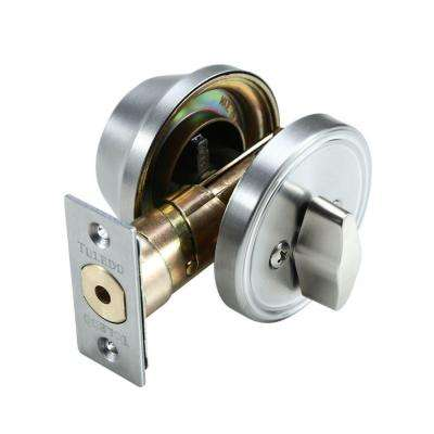 Single Cylinder Satin Stainless-Steel Deadbolt