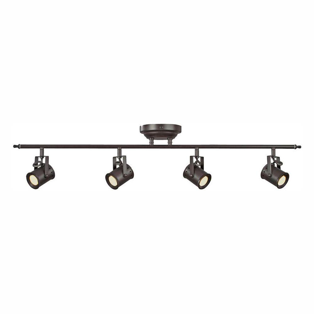 Aspects Studio 4 Light Oiled Rubbed Bronze Dimmable Fixed Track Lighting Kit