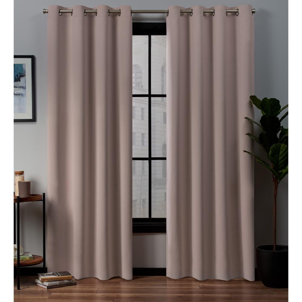 37 x 96 Inches Home Maison Nash Blackout Window Curtain Blush