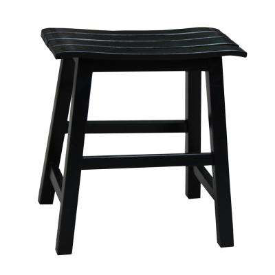 18 in. Black Bar Stool