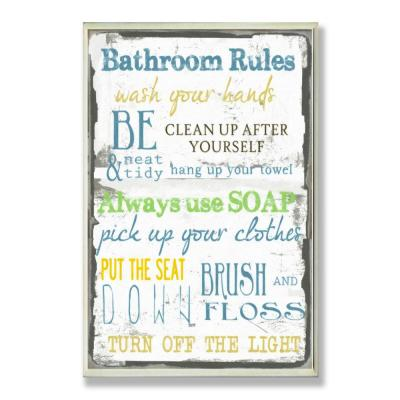 Bath Wall Signs Wall Decor The Home Depot