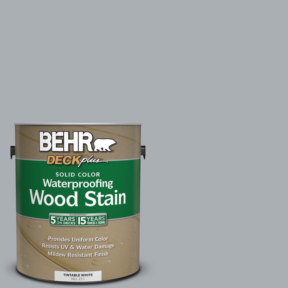 1 gal. #N500-3 Tin Foil Solid Color Waterproofing Wood Stain
