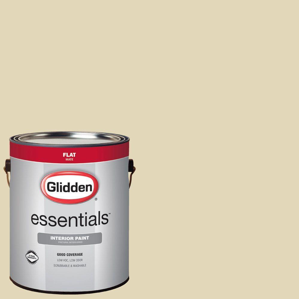 Glidden Essentials 1 Gal Hdgy49d Sunlit Meadow Flat Interior Paint Hdgy49de 01fn The Home Depot