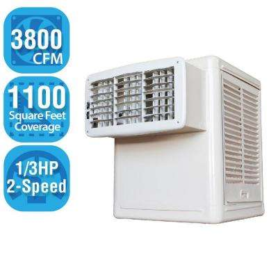 3,800 CFM 2-Speed Window Evaporative Cooler for 1100 sq. ft. (1/3 HP Motor Included)