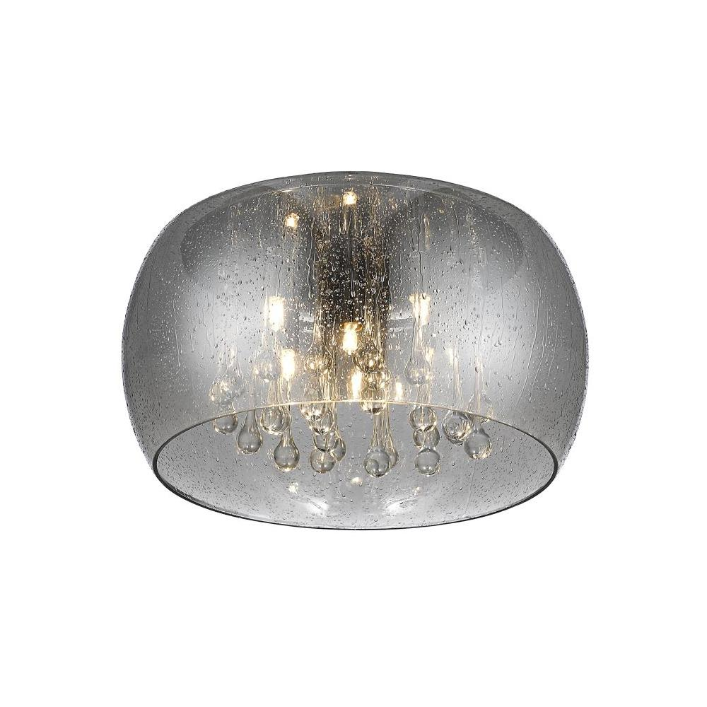 Home decorators collection 5 light chrome glass integrated led home decorators collection 5 light chrome glass integrated led flushmount with clear glass beads aloadofball Gallery