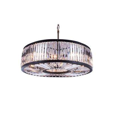Chelsea 10-Light Mocha Brown Chandelier with Clear Crystal