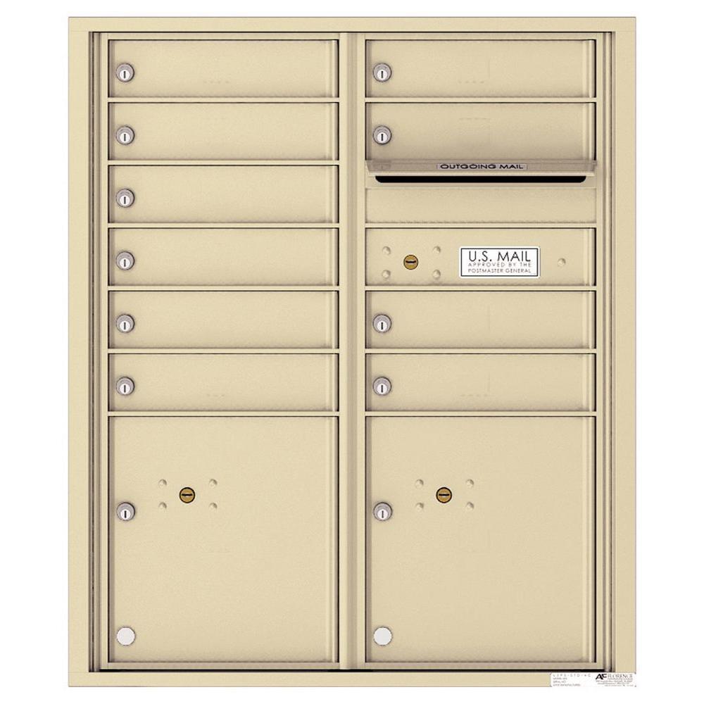 Versatile 10-Compartment Recess-Mount 4C ADA Mailbox