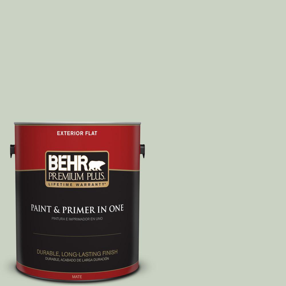 1 gal. #PPU11-12 Mild Mint Flat Exterior Paint