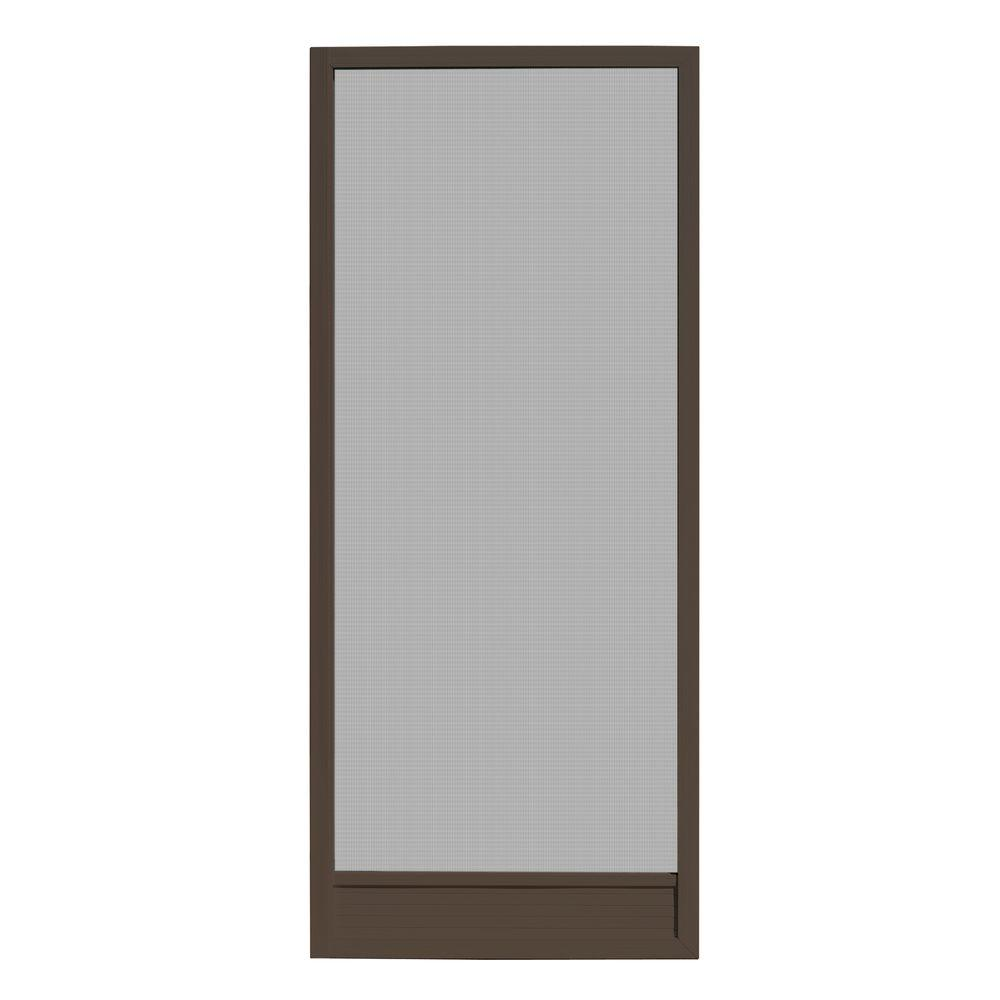 32 in. x 80 in. Delray Bronze Outswing Metal Hinged Screen