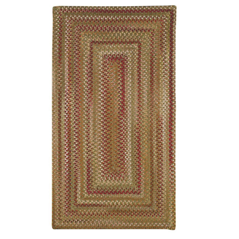Capel Applause Concentric Evergreen 7 ft. x 9 ft. Area Rug
