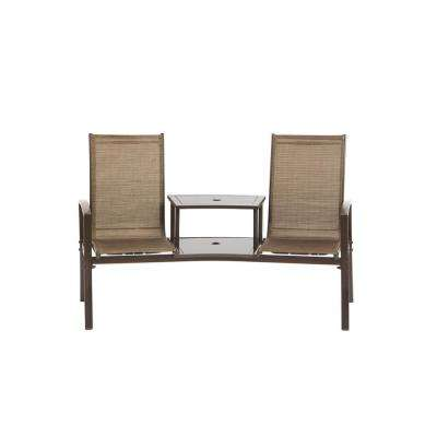 Havana Bronze 1-Piece Metal Outdoor Loveseat without Cushions