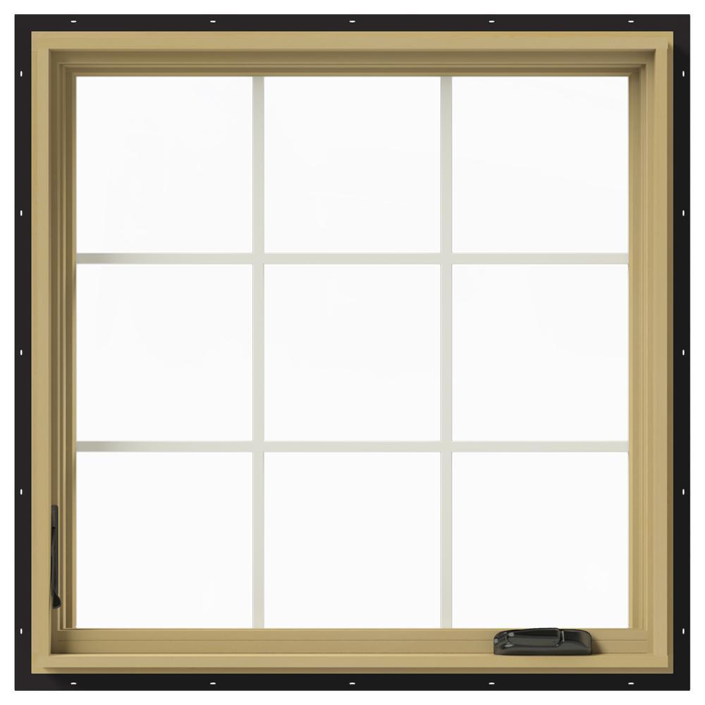 36 in. x 36 in. W-2500 Left-Hand Casement Aluminum Clad Wood Window