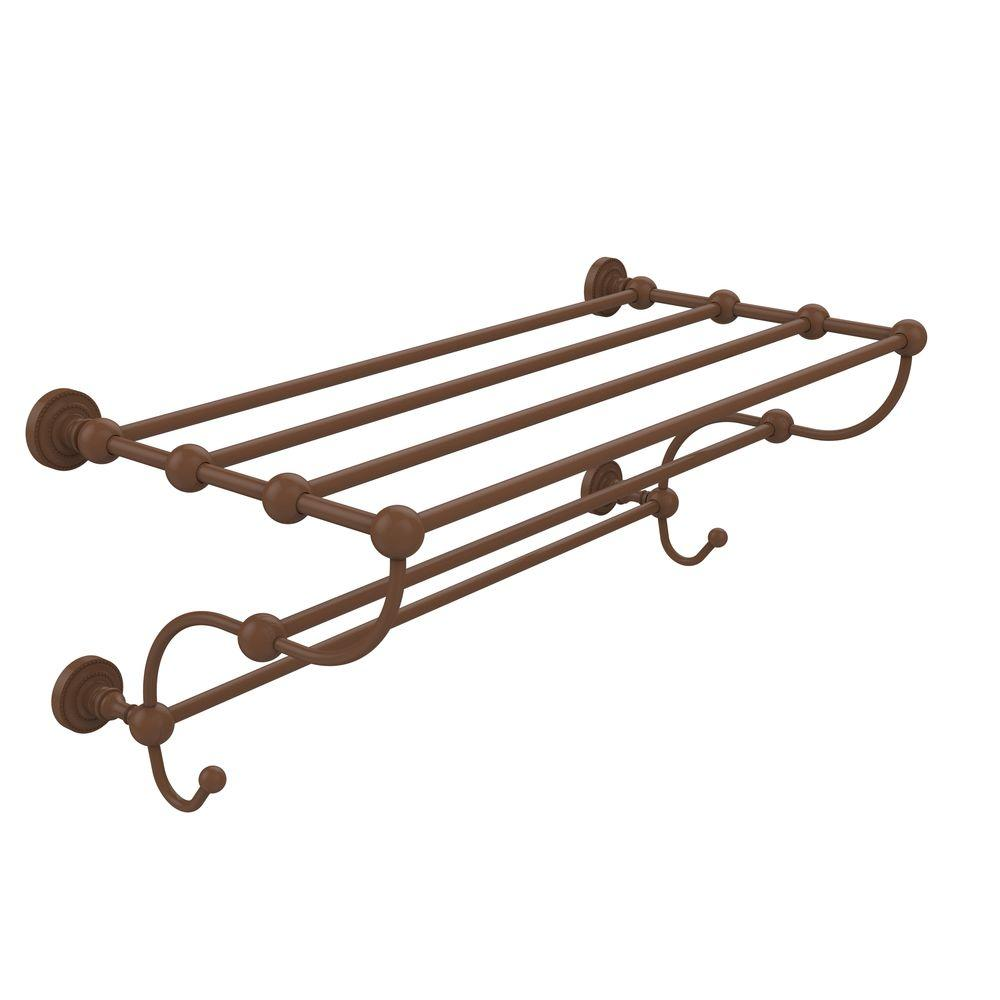 Dottingham Collection 24 in. Train Rack Towel Shelf in Antique Bronze
