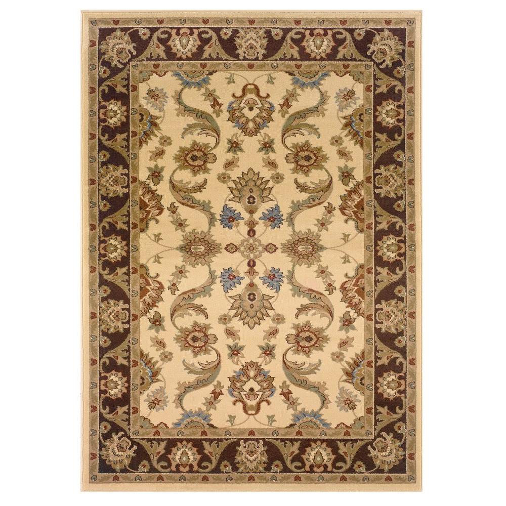 Adana Cream/Brown 5 ft. 3 in. x 7 ft. 5 in.