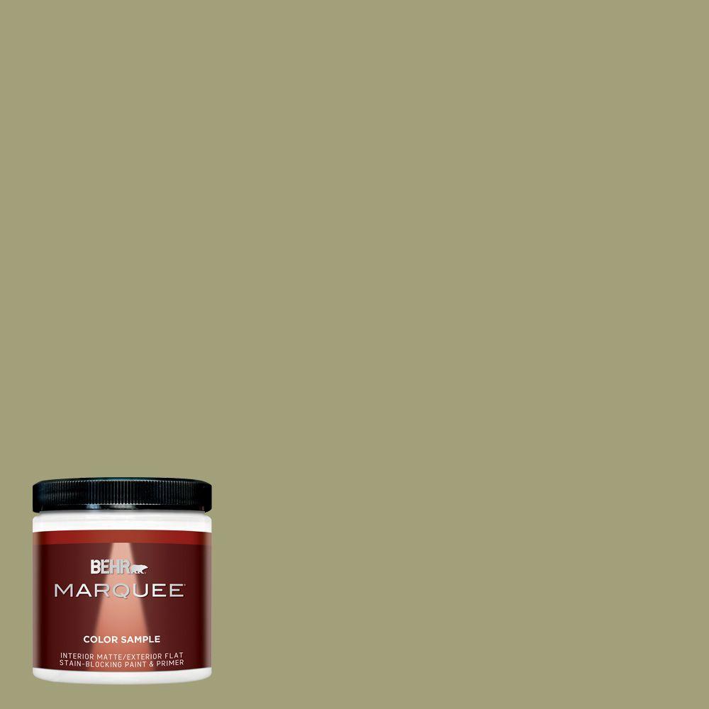 Behr Marquee 8 Oz Mq6 57 Bermuda Grass Matte Interior Exterior Paint And Primer Sample Mq30416