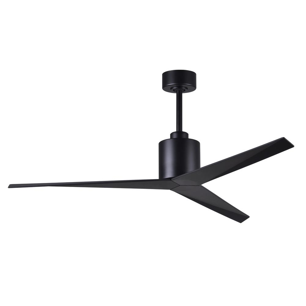 Eliza 56 in. Indoor/Outdoor Matte Black Ceiling Fan with Matte Black Blades and Hand Held Remote/Wall Control
