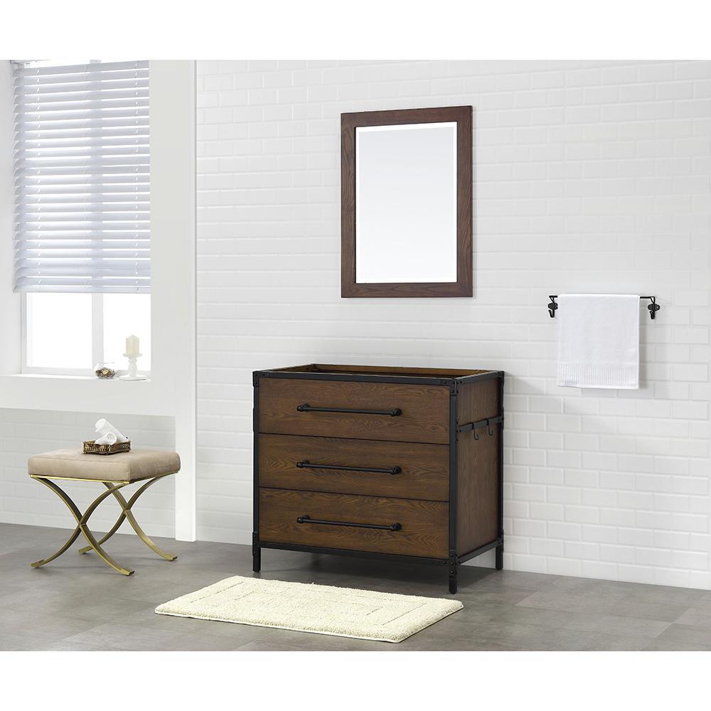 Grandburgh 36 in. W x 22 in. D Vanity Cabinet Only in Coffee Swirl