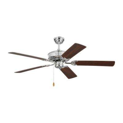 Haven 52 in. Chrome Ceiling Fan with Dual Finished Blades