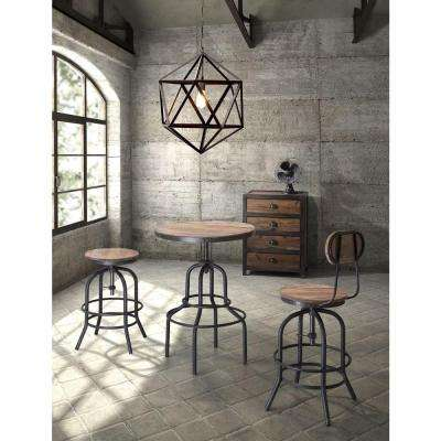 Twin Peaks Distressed Natural Adjustable Pub/Bar Table