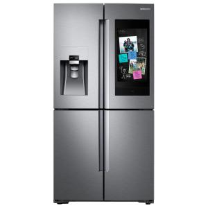 22 cu. ft. Family Hub 4-Door French Door Smart Refrigerator in Stainless Steel with AKG Speaker, Counter Depth