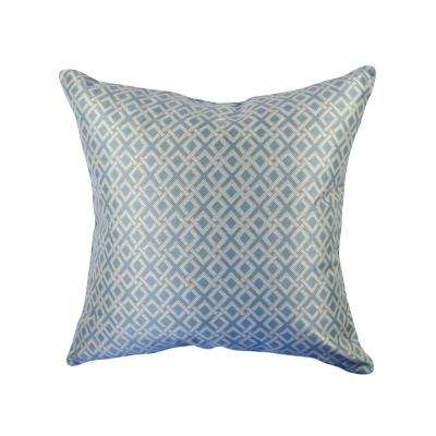Geometric Woven Throw Pillow