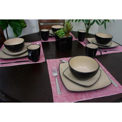 Soho Lounge 16- Piece Taupe Dinnerware Set