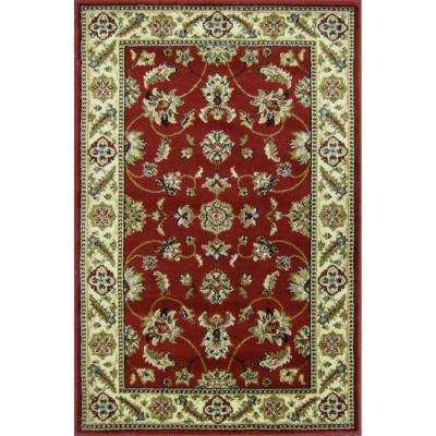 Kazmir Crimson 3 ft. x 4 ft. Area Rug