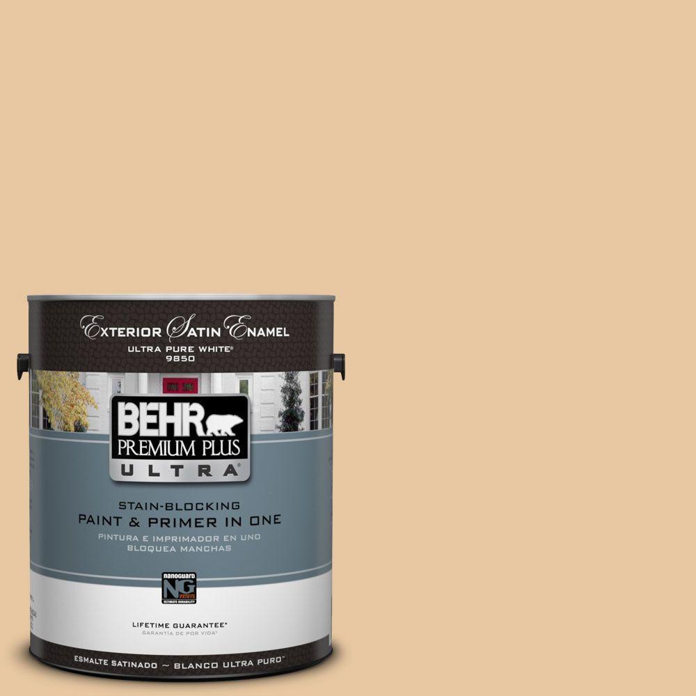 BEHR Premium Plus Ultra 1-Gal. #UL140-18 Jasper Cane Satin Enamel Exterior Paint