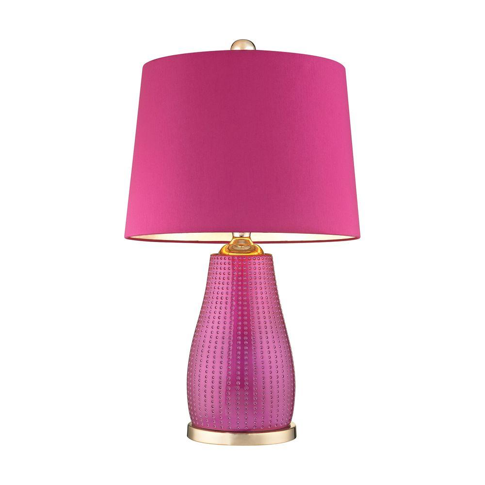 cerise pink kitchen accessories titan lighting brigitte 26 in cerise pink table lamp with 5211