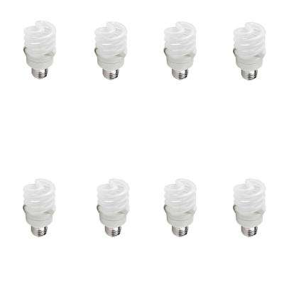 60-Watt Equivalent T2 CFL Light Bulb Soft White Spiral (8-Pack)